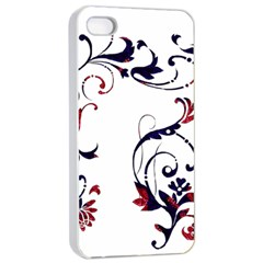 Scroll Border Swirls Abstract Apple Iphone 4/4s Seamless Case (white)