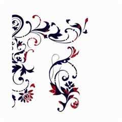 Scroll Border Swirls Abstract Small Garden Flag (Two Sides)