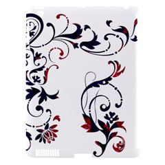 Scroll Border Swirls Abstract Apple iPad 3/4 Hardshell Case (Compatible with Smart Cover)