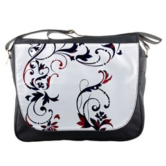 Scroll Border Swirls Abstract Messenger Bags