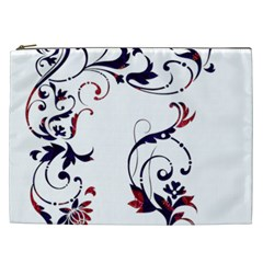Scroll Border Swirls Abstract Cosmetic Bag (XXL)