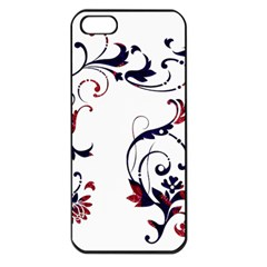 Scroll Border Swirls Abstract Apple Iphone 5 Seamless Case (black)