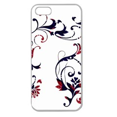 Scroll Border Swirls Abstract Apple Seamless Iphone 5 Case (clear)