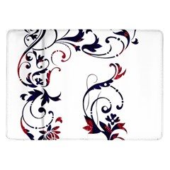 Scroll Border Swirls Abstract Samsung Galaxy Tab 10 1  P7500 Flip Case