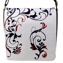 Scroll Border Swirls Abstract Flap Messenger Bag (S)