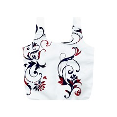 Scroll Border Swirls Abstract Full Print Recycle Bags (S)