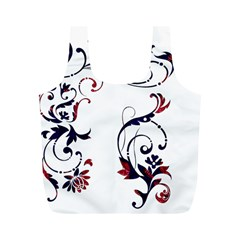Scroll Border Swirls Abstract Full Print Recycle Bags (m)