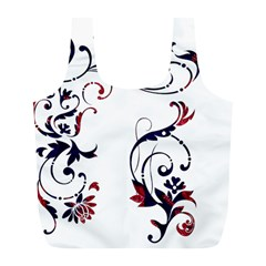 Scroll Border Swirls Abstract Full Print Recycle Bags (l)