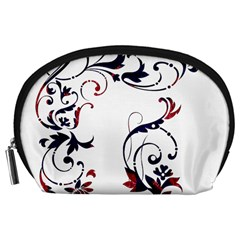 Scroll Border Swirls Abstract Accessory Pouches (large)