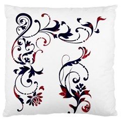 Scroll Border Swirls Abstract Standard Flano Cushion Case (two Sides)