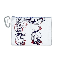 Scroll Border Swirls Abstract Canvas Cosmetic Bag (m)
