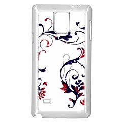 Scroll Border Swirls Abstract Samsung Galaxy Note 4 Case (white)