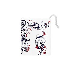 Scroll Border Swirls Abstract Drawstring Pouches (xs)