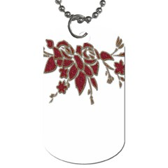 Scrapbook Element Nature Flowers Dog Tag (Two Sides)