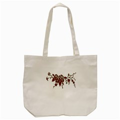 Scrapbook Element Nature Flowers Tote Bag (cream)