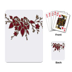 Scrapbook Element Nature Flowers Playing Card