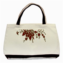 Scrapbook Element Nature Flowers Basic Tote Bag (two Sides)