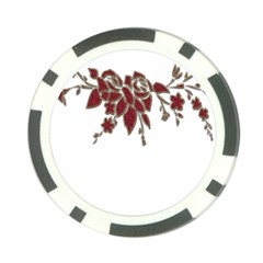 Scrapbook Element Nature Flowers Poker Chip Card Guard (10 pack)