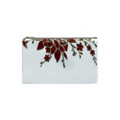 Scrapbook Element Nature Flowers Cosmetic Bag (Small)