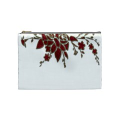 Scrapbook Element Nature Flowers Cosmetic Bag (medium)