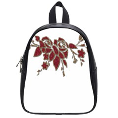 Scrapbook Element Nature Flowers School Bags (Small)