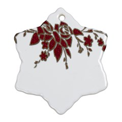Scrapbook Element Nature Flowers Snowflake Ornament (two Sides)