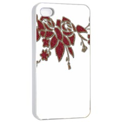 Scrapbook Element Nature Flowers Apple Iphone 4/4s Seamless Case (white)