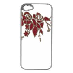 Scrapbook Element Nature Flowers Apple iPhone 5 Case (Silver)