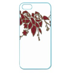 Scrapbook Element Nature Flowers Apple Seamless Iphone 5 Case (color)