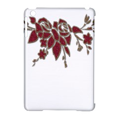 Scrapbook Element Nature Flowers Apple Ipad Mini Hardshell Case (compatible With Smart Cover)