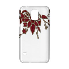 Scrapbook Element Nature Flowers Samsung Galaxy S5 Hardshell Case