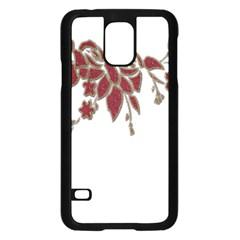Scrapbook Element Nature Flowers Samsung Galaxy S5 Case (Black)