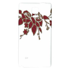 Scrapbook Element Nature Flowers Galaxy Note 4 Back Case