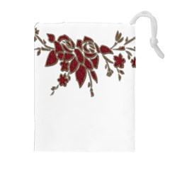 Scrapbook Element Nature Flowers Drawstring Pouches (Extra Large)