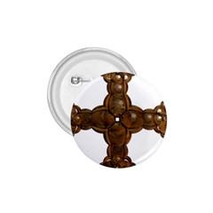 Cross Golden Cross Design 3d 1.75  Buttons