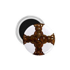 Cross Golden Cross Design 3d 1 75  Magnets