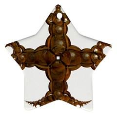 Cross Golden Cross Design 3d Ornament (star)