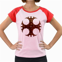 Cross Golden Cross Design 3d Women s Cap Sleeve T Shirt