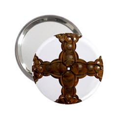 Cross Golden Cross Design 3d 2 25  Handbag Mirrors