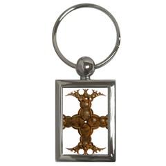 Cross Golden Cross Design 3d Key Chains (rectangle)