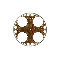 Cross Golden Cross Design 3d Hat Clip Ball Marker