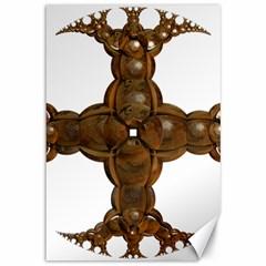 Cross Golden Cross Design 3d Canvas 12  X 18