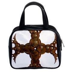 Cross Golden Cross Design 3d Classic Handbags (2 Sides)