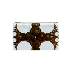 Cross Golden Cross Design 3d Cosmetic Bag (small)