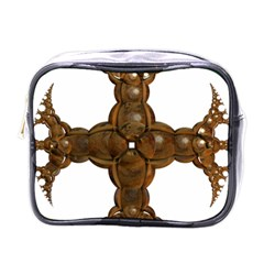 Cross Golden Cross Design 3d Mini Toiletries Bags