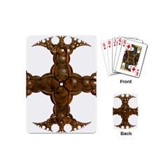 Cross Golden Cross Design 3d Playing Cards (Mini)