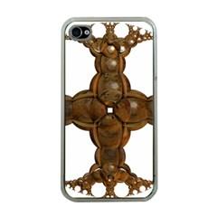 Cross Golden Cross Design 3d Apple Iphone 4 Case (clear)