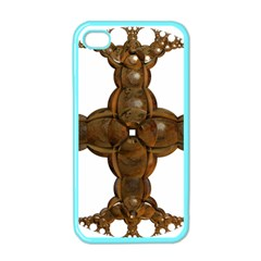 Cross Golden Cross Design 3d Apple Iphone 4 Case (color)