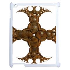 Cross Golden Cross Design 3d Apple Ipad 2 Case (white)