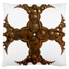 Cross Golden Cross Design 3d Large Cushion Case (One Side)